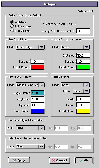 Konkeptoine Antiqua Interface